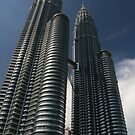 Blue Sky, Petronas Towers by Jane McDougall