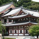 Buddhist temple on the mountain slope, Kamakura, Japan by Nasko .