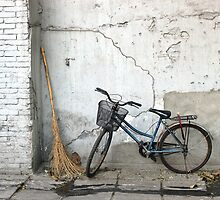 Broom and Bike by Glennis  Siverson
