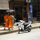 Lao monks by machka