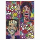 Pastel Portraits - Flower Power - Mick & Keith T Shirt by StevieRiksArt
