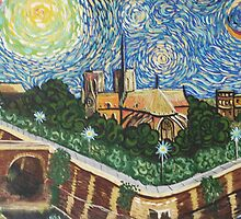 Notre Dame Cathedral after Van Gogh by Pamela E. Norwood