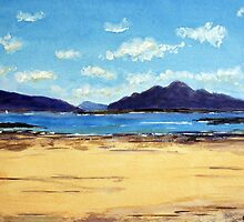 Eigg and Rhum morning by David Alexander Elder