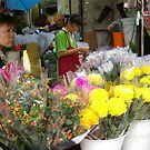 Flower market vendor by robigeehk