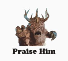 Praise Him Black Text by PopCultFanatics