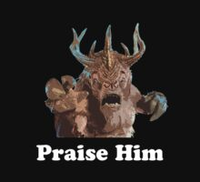 Praise Him White Text by PopCultFanatics