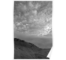 Rock and clouds - Peak District - United Kingdom Poster