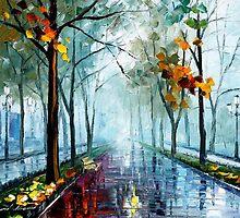 FOGGY PARK - LEONID AFREMOV by Leonid  Afremov