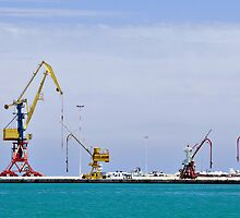 Cranes, loading equipment, port of Heraklion. by FER737NG