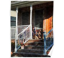 Bicycle on Porch Poster