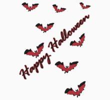 Happy Halloween tt bats horror vector art by cheeckymonkey