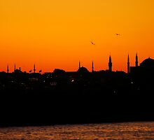 Istanbul sunset by reflextions