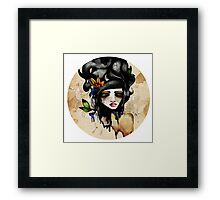 A Lady & her Bones., Framed Print
