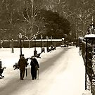 Kensington Gardens White Winter by Eric Flamant