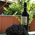 Graped to whine = head ache  by BarbJK