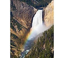 Lower Falls of the Yellowstone with Morning Rainbow Photographic Print
