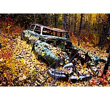 Car in Woods Photographic Print