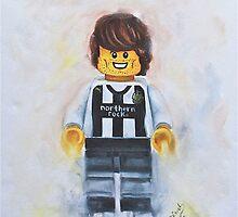 Geordie lego Footballer..  by Deborah Cauchi