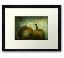 There Were Never Such Devoted Pumpkins Framed Print