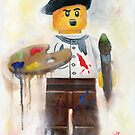 little lego Artist by Deborah Cauchi