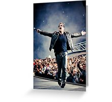 Bask - Bono in Paris Greeting Card