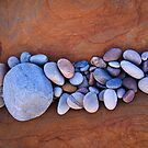 Band of pebbles, Hopeman by Christopher Thomson