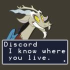 My Little Pony Discord Quote Shirt by Casteal