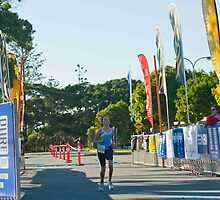 Kingscliff Triathlon 2011 Finish line B5940 by Gavin Lardner