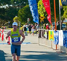 Kingscliff Triathlon 2011 Finish line B5981 by Gavin Lardner