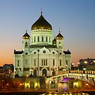 Night kind of a temple of the Christ of the Savior by mski