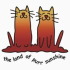 Sunshine cats Sticker by Anny Arden
