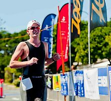 Kingscliff Triathlon 2011 Finish line B6220 by Gavin Lardner