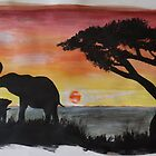 African elephant family by staceysprout