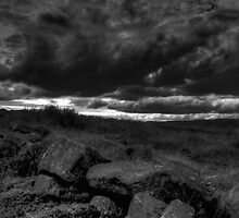 Rocks and Stormy Sky - The Peak District- United Kingdom by FB Photography