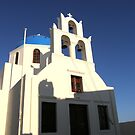 Evening  Church Santorini Greece  by mikequigley