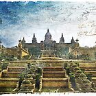 Palau Nacional, Barcelona, Spain | Forgotten Postcard by Alison Cornford-Matheson
