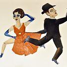 Tango Dancers by zoequixote