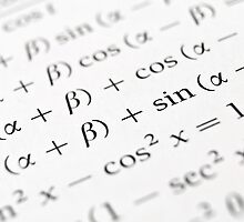 Algebra formulas close up. by FER737NG