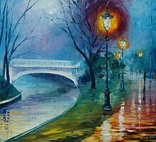 MISTY BRIDGE - LEONID AFREMOV by Leonid  Afremov