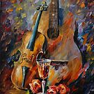 GUITAR AND VIOLIN - LEONID AFREMOV by Leonid  Afremov