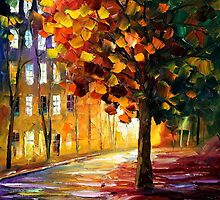 THE GLOWING LIGHT - LEONID AFREMOV by Leonid  Afremov