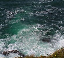 Nothing but the Frothing Sea - Cape Cornwall by Kat Simmons
