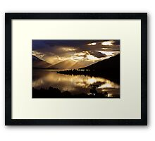Lake Te Anau sunset. South Island, New Zealand. (5) Framed Print