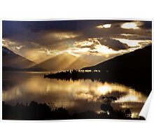 Lake Te Anau sunset. South Island, New Zealand. (5) Poster