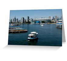 Vancouver Harbour, a View Greeting Card