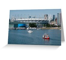 BC Place Sports Venue Greeting Card