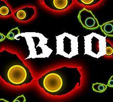 Glowing Eye Boo Halloween design by ladyluck7711