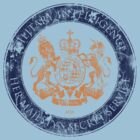 On her Majesty's secret service logo  - ORANGE/NAVY by bengrimshaw