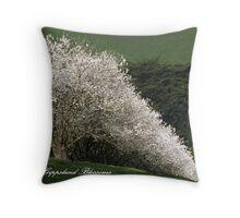 Gippsland Blossom Trees Throw Pillow