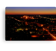 Nebraska State Capital Building Sunset Canvas Print